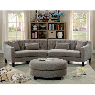 Peachy Mercury Row Avallone Sectional Products Tufted Sectional Inzonedesignstudio Interior Chair Design Inzonedesignstudiocom