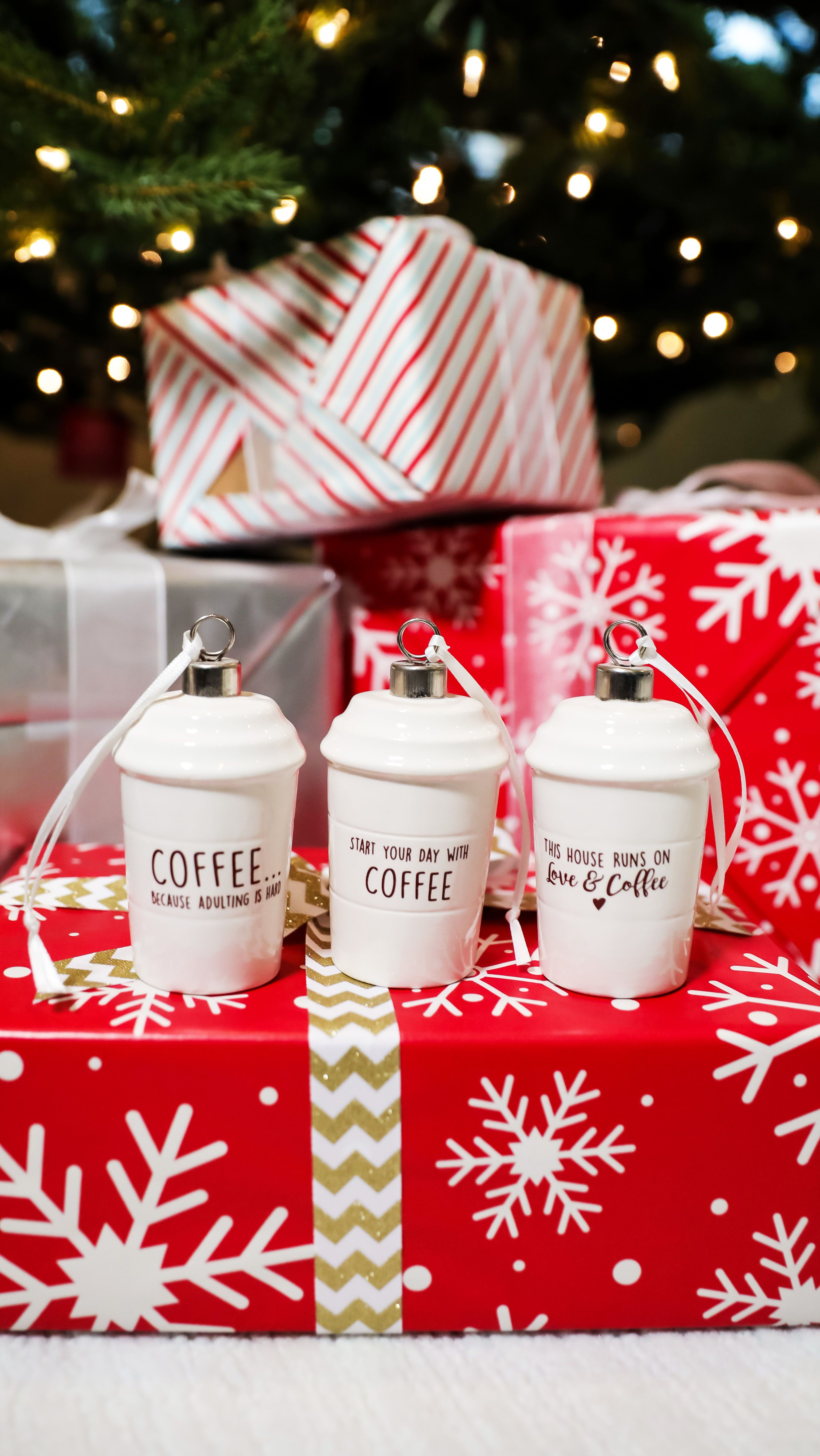 Coffee Mug Ornaments Unique Christmas Gift For Coworker Or Friend Christmasornament Coffeemug Coffeelover Friendgift