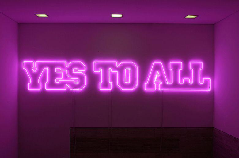 Sylvie Fleury. Yes To All, 2006. | Frases en español ...Sylvie Fleury Yes To All