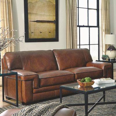 Exceptional Simon Li Macco Leather Sofa U0026 Reviews | Wayfair