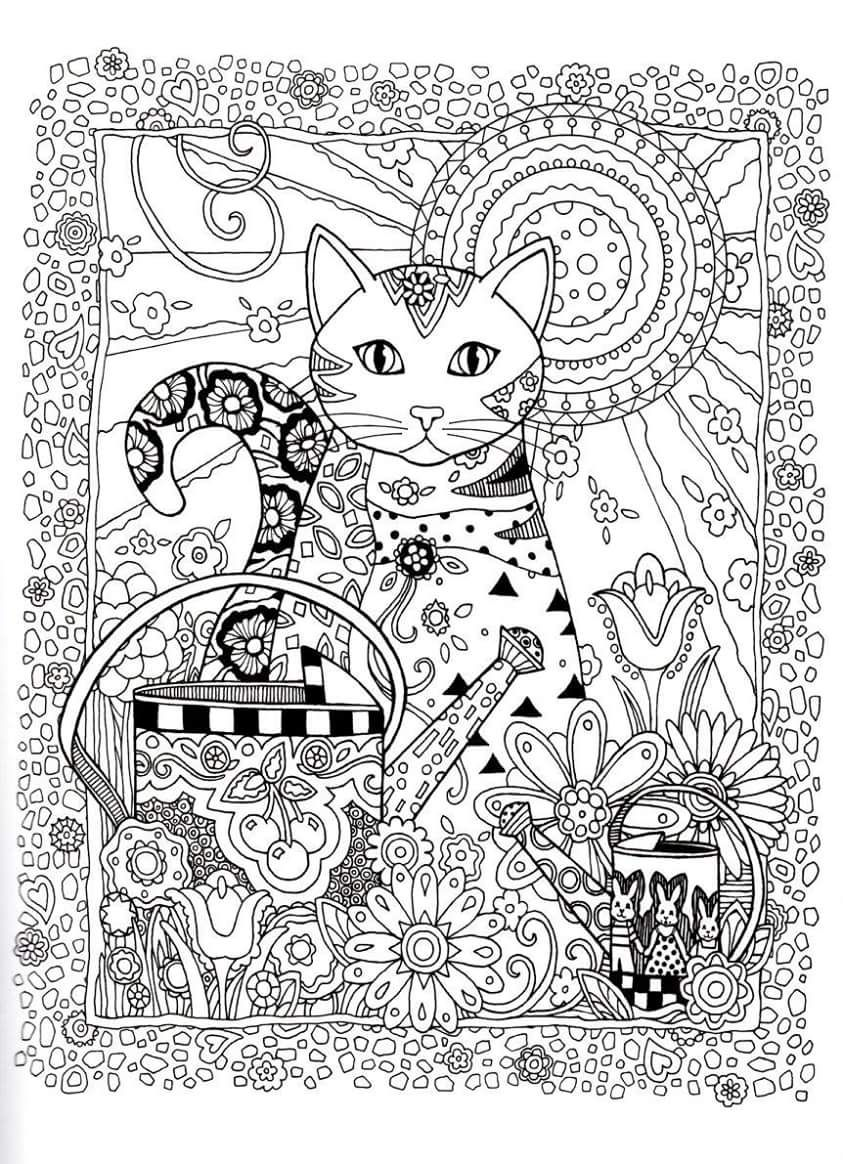 Creative Haven Creative Cats Dover Publications Coloring | Coloring ...