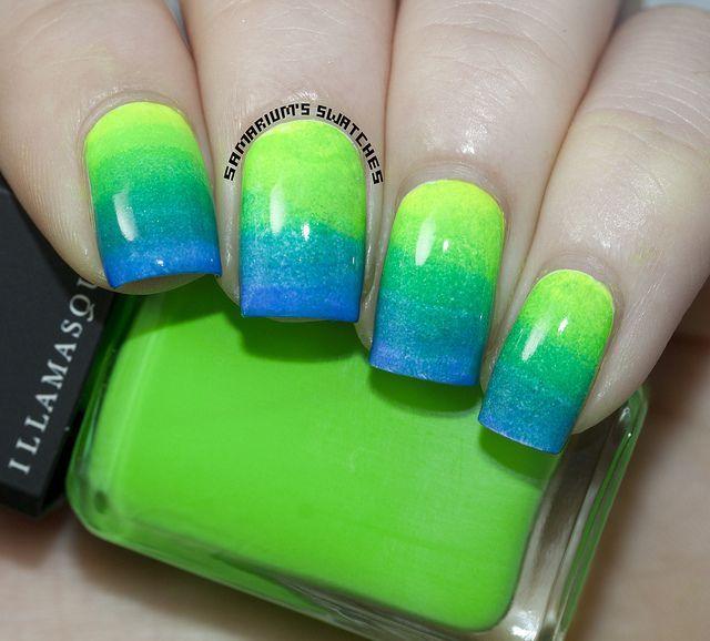 Gradient Nail Art (2) by Samarium's Swatches, via Flickr
