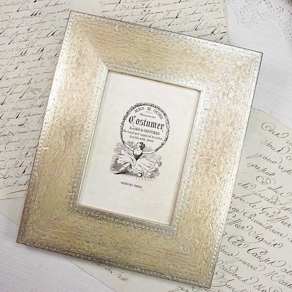 5x7 Wide Flat Engraved Silver Deluxe Photo Frame for Wedding/Desktop ...