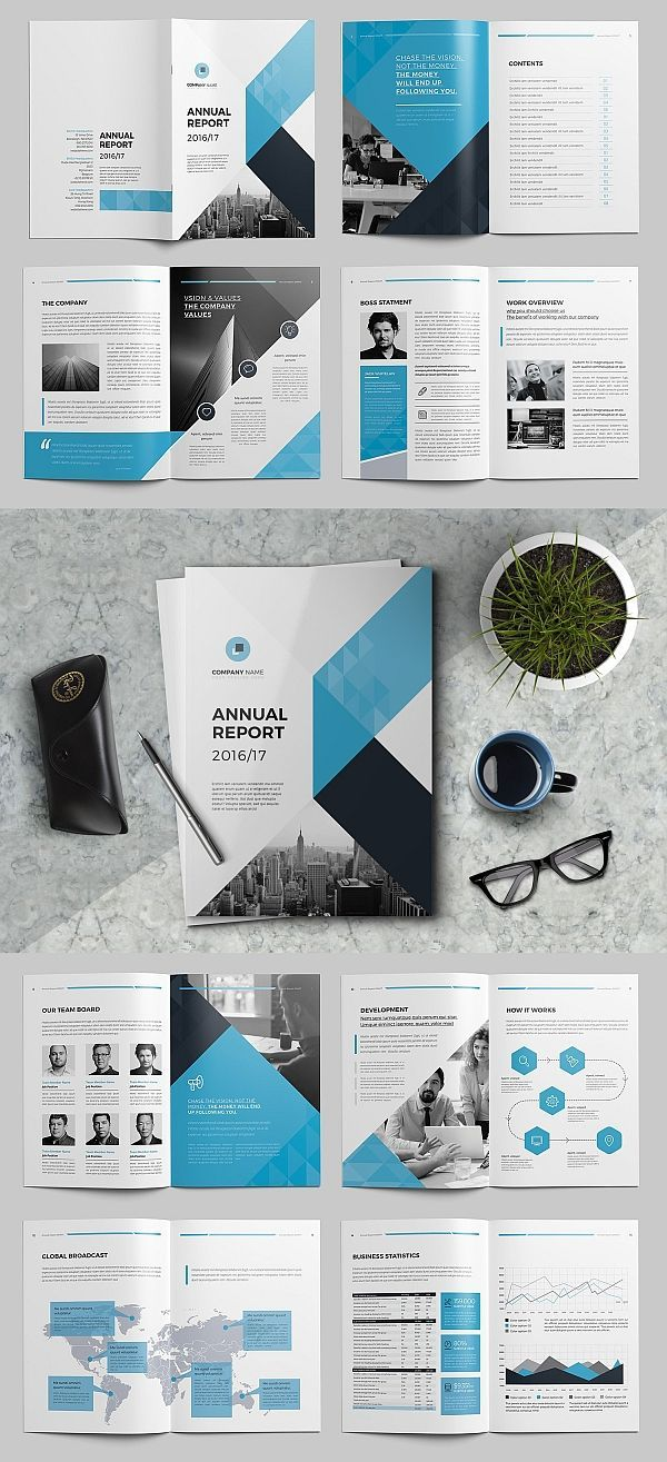the annual report template  brochure  template  indesign  templates  corporate  business  a4