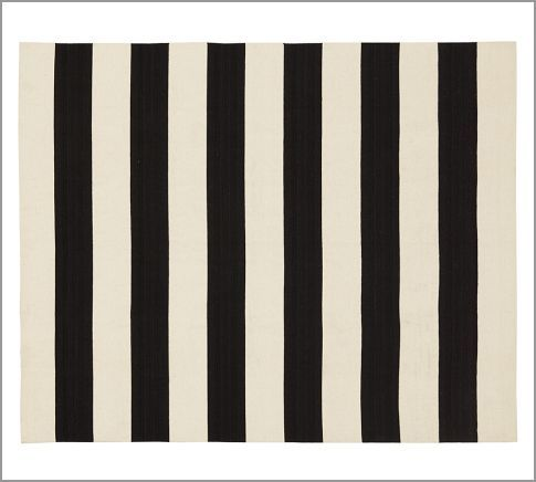 Awning Stripe Dhurrie Rug | Pottery Barn (backdoor) $159 3x5