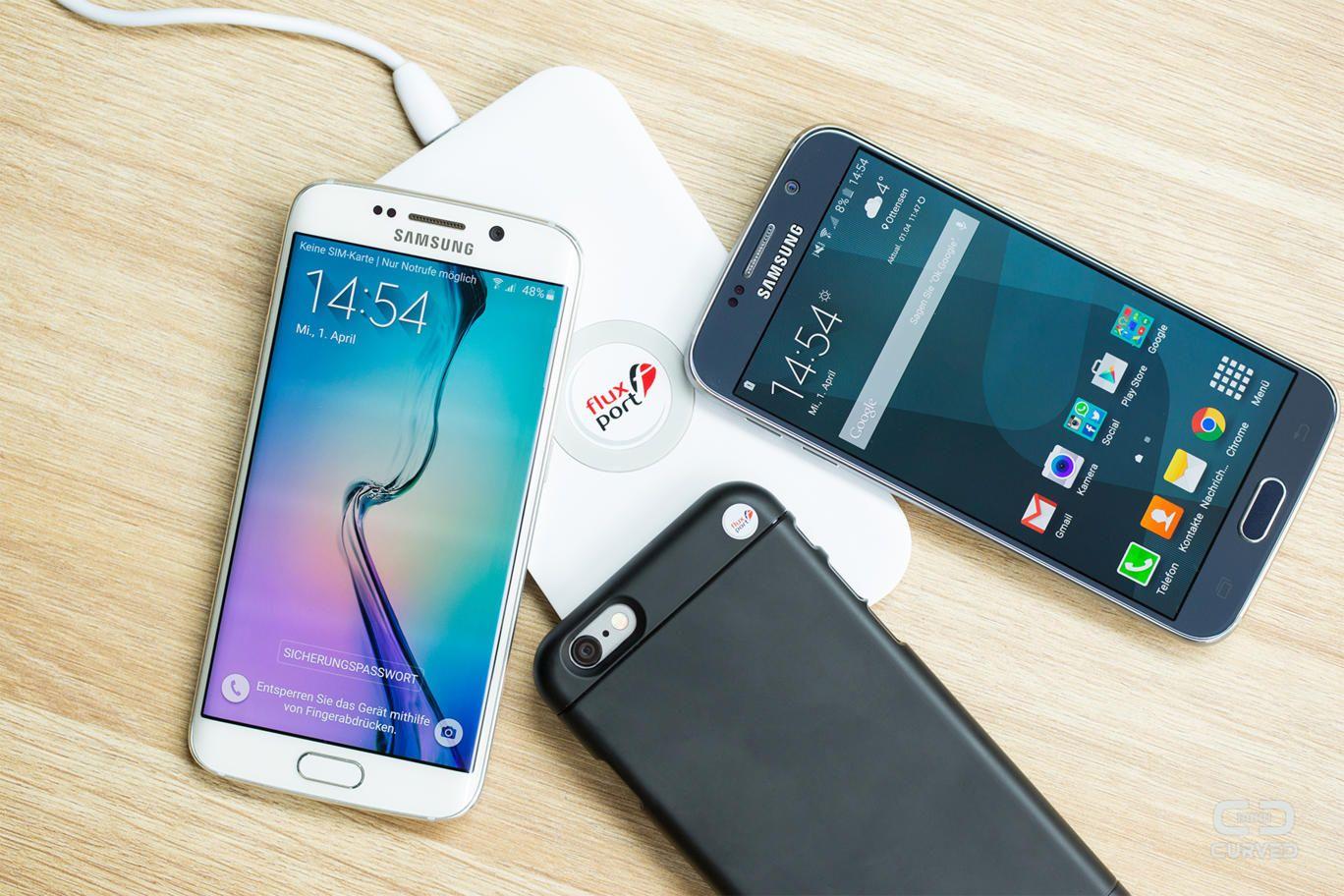 Fluxport Kabelloses Laden Fur Galaxy S6 Und Iphone 6 Teknoloji Ordu Ve Telefonlar