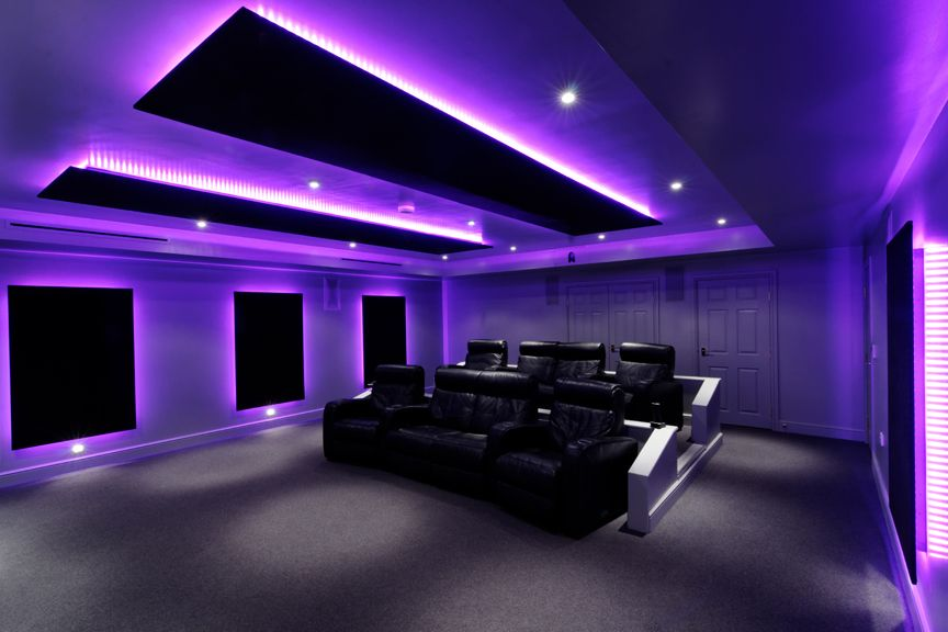 The Pool House Cinema Over 60 Meters Of Color Changing Led