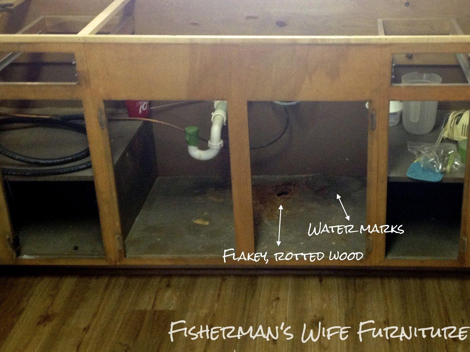 Waterproofing Under The Sink Under Kitchen Sinks Sink Repair Furniture