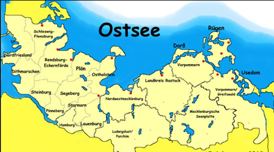 Karte Ostsee.Karte Ostsee Reisen Ostsee Ostsee Flensburg Und Lübeck
