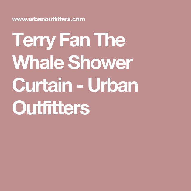 Urban Outfitters Whale Shower Curtain March 2017
