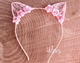 Cat Ears Animal Print Cat Ears Kids Cat Ears Costume Cat by Ulous