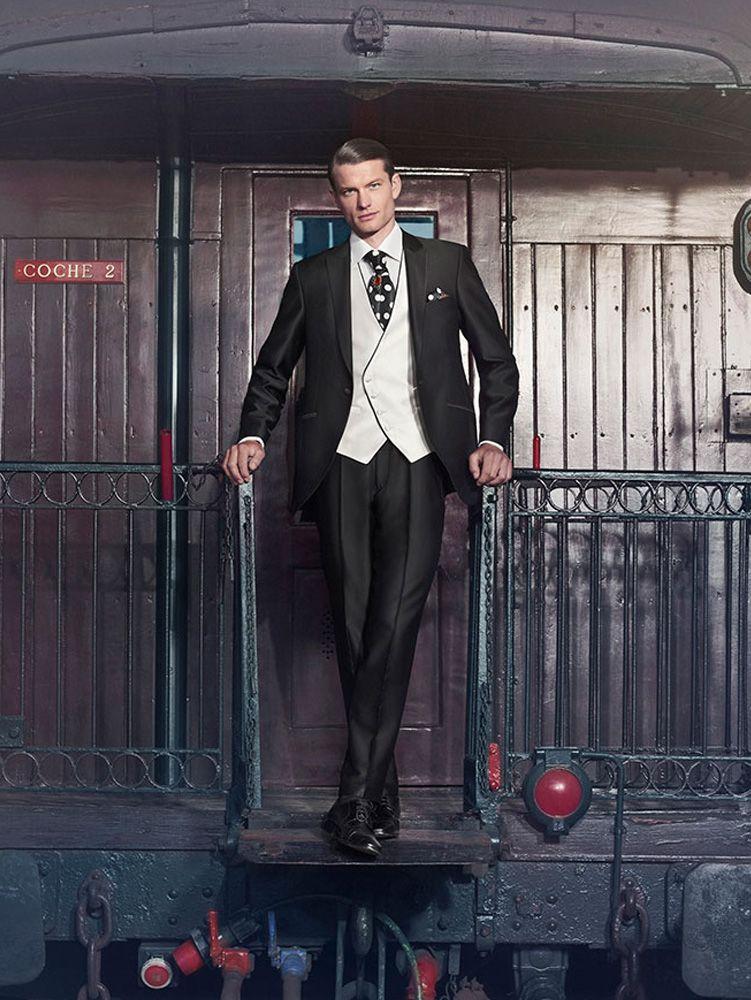 1357b5aee9b76 traje-de-novio-milano-negro Ropa Elegante Hombre