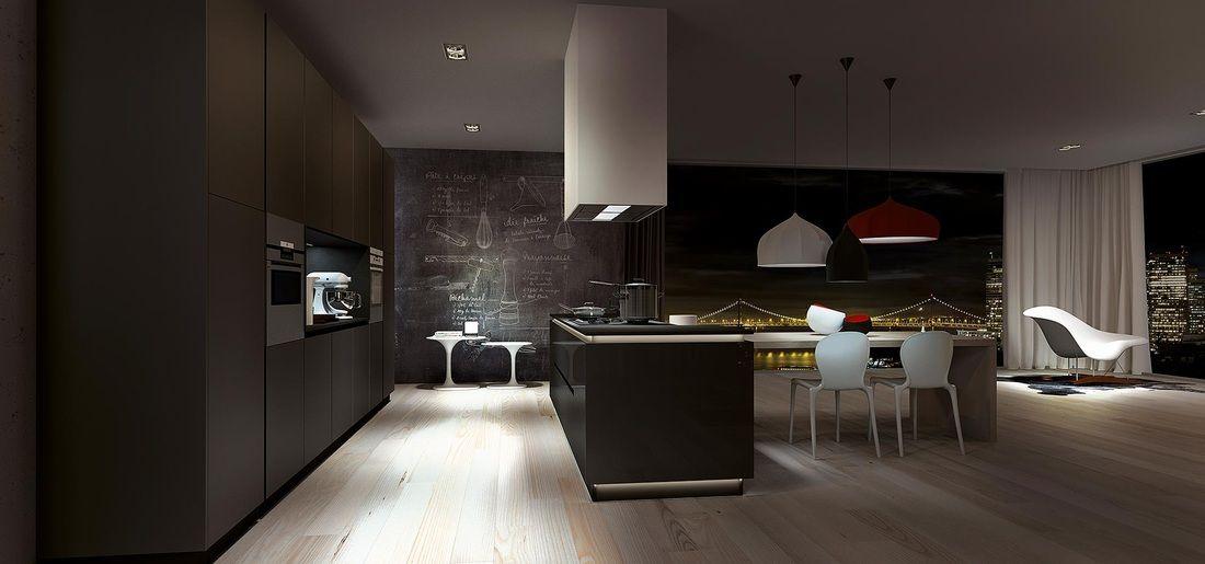 cucine nere esposizione | Arredamento d\'interni | Pinterest | Cucine ...