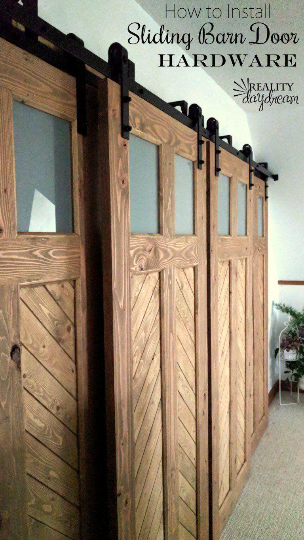 Installing Sliding Barn Door Hardware With Bypass Brackets Doors
