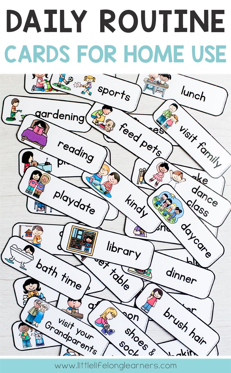 Daily Routine Cards Home Use In 2020 Routine Cards Preschool Routine Daily Routine Chart For Kids