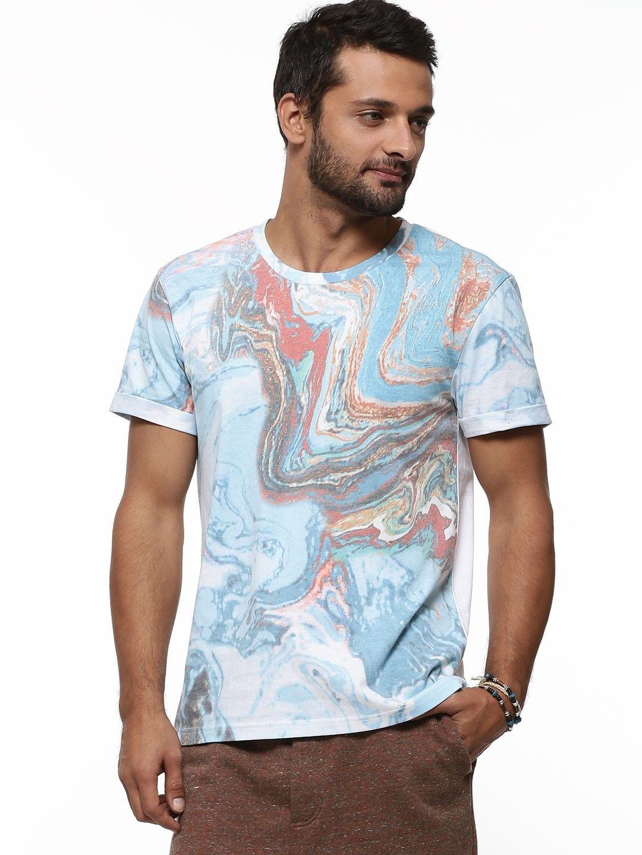 ffb1bf752 KOOVS EXCLUSIVE PRINT Marble T-shirt - Buy Men's Tee Shirts online in India