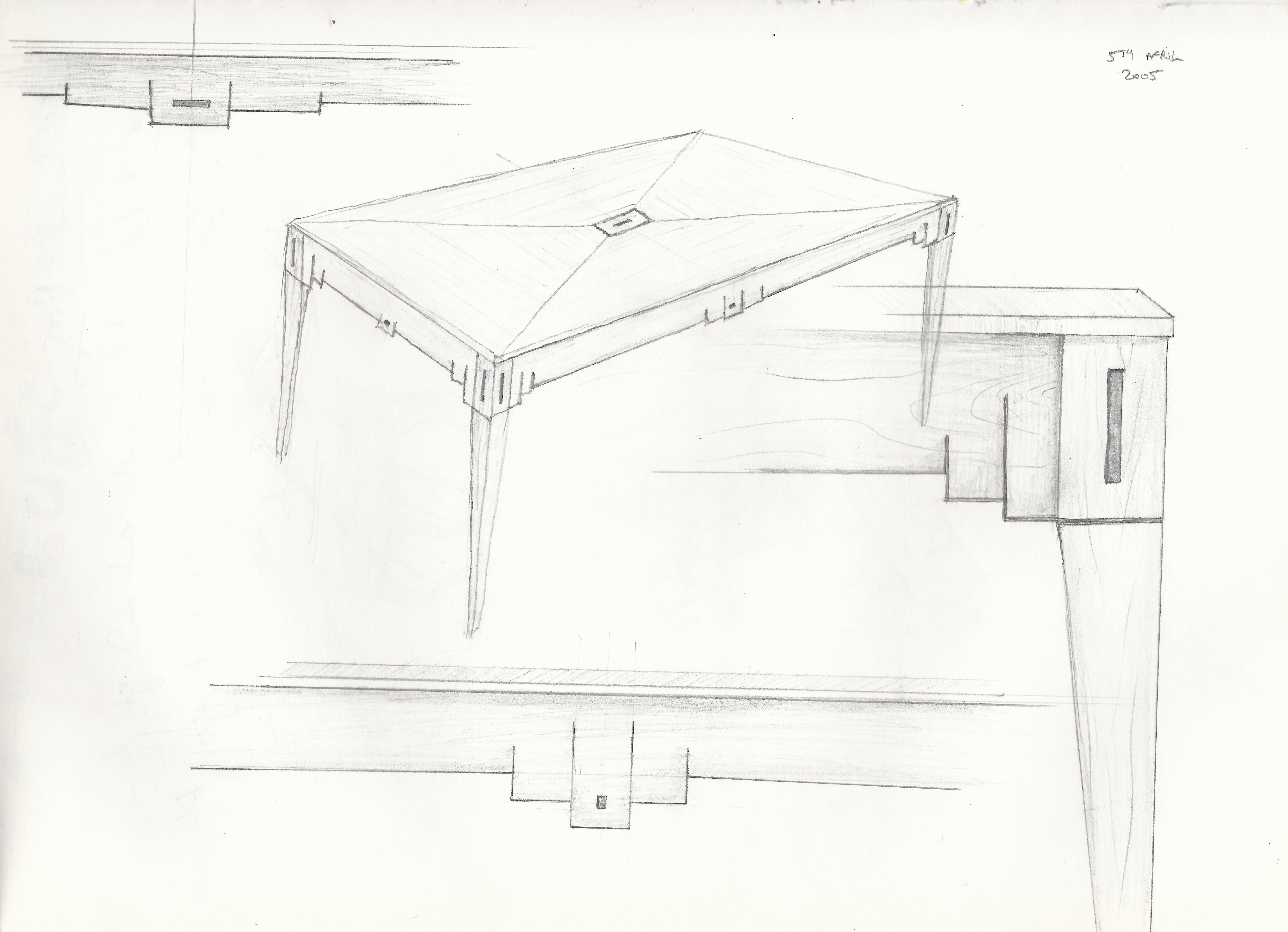 Just A Sketch Of A Dining Table Key Features Are Also