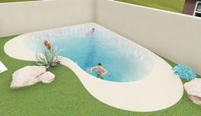 Piscina con dos playas banco de burbujas piscinas de arena natursand piscinas pinterest - Burbujas para piscinas ...