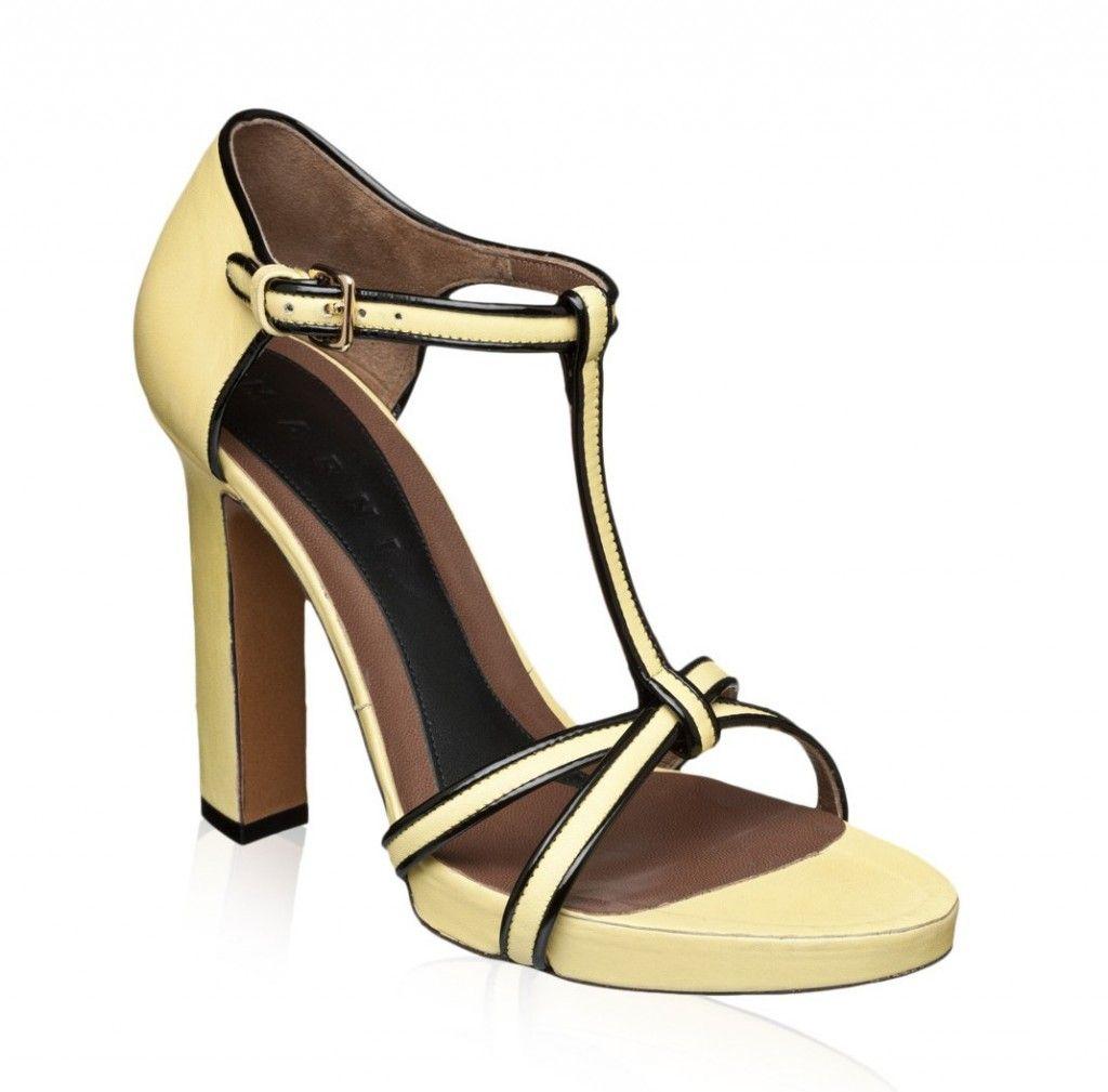 zapato mujer marni mostaza