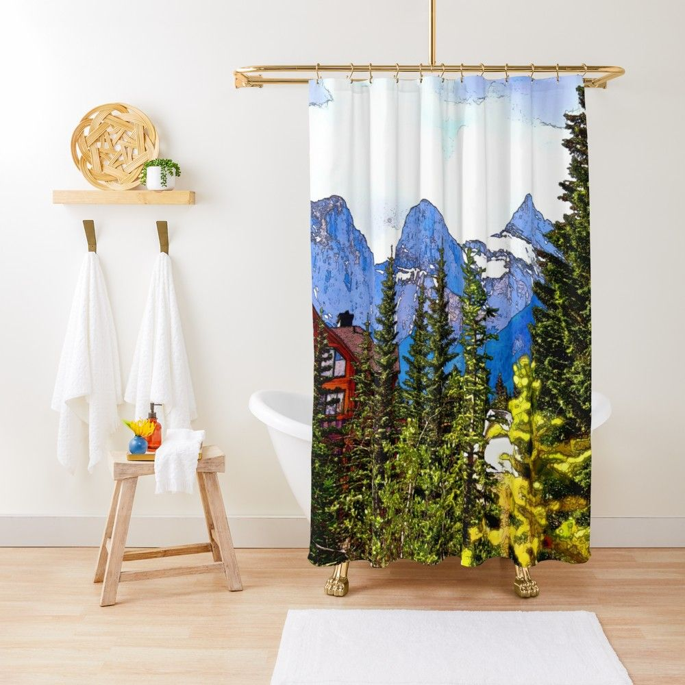 Faith Charity And Hope Three Sisters Mountain Range Shower Curtain By Natureprints Charity Mountain Range Designer Shower Curtains