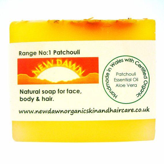 Patchouli Organic Soap  Handmade Soap  Vegan by NewDawnOrganicSkin
