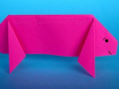 Origami Schwein Falten Diy Ia24 M Jpg 400 300 Papier Falten Origami Falten