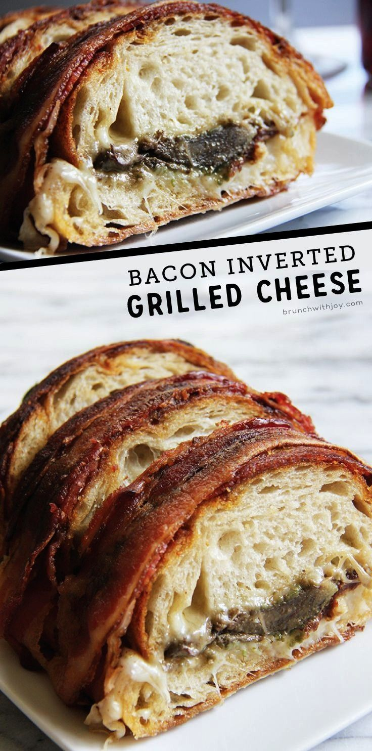 Cheese and kick off Grilled Cheese month with this bacon inverted grilled cheese and Say Cheese