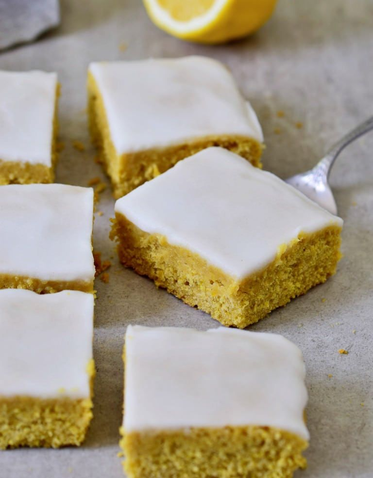 lemon sheet cake is incredibly soft, moist, and very delicious, even though it's completely oil-free! The recipe is vegan, gluten-free, refined sugar-free, and very easy to make. |