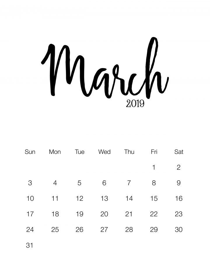 Calendar 2019 And 2016 Printable Fabulous and Free Printable 2019 Minimalistic Calendar | Room