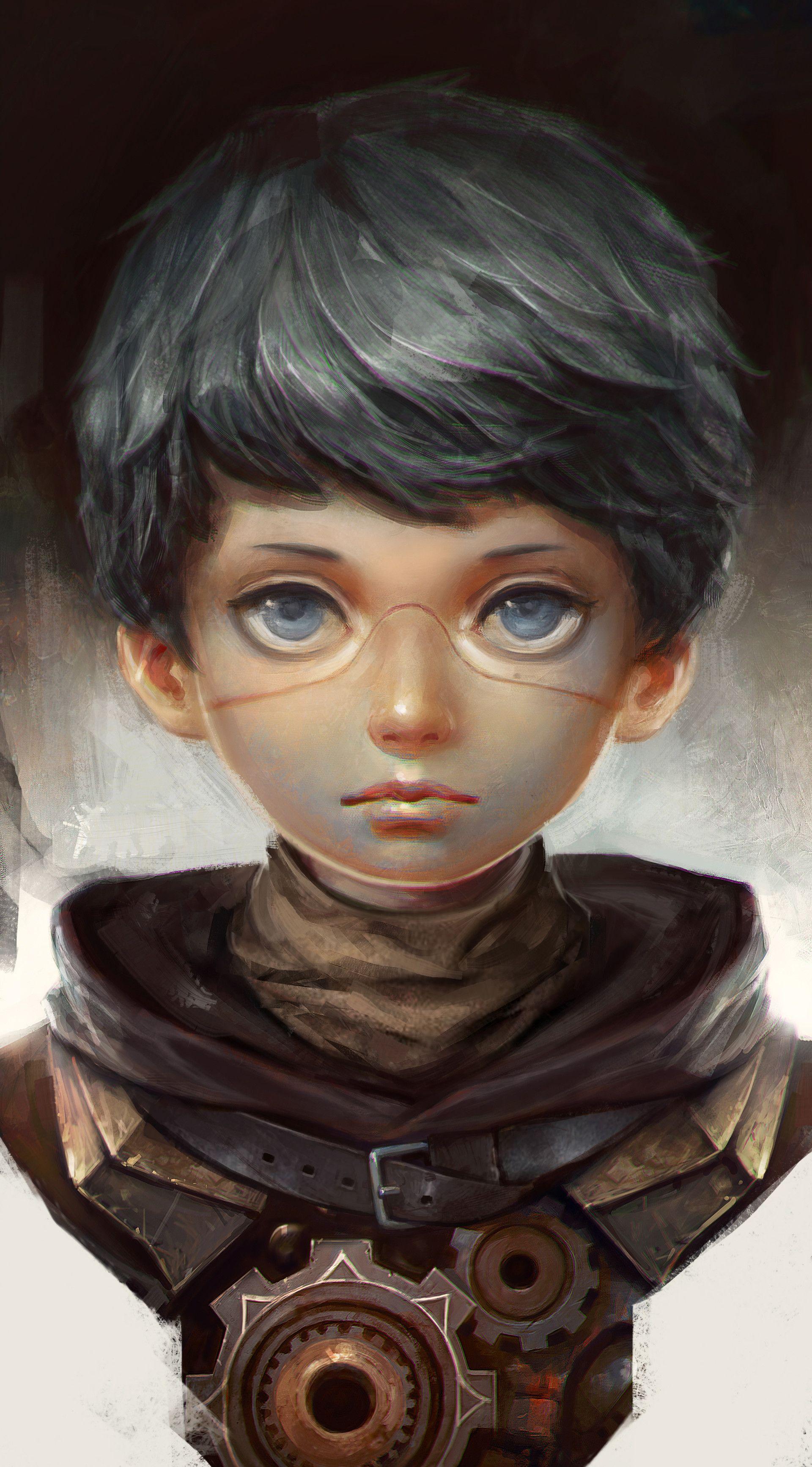 Hairstyle of boy artstation  boy yuan cui  prj robo  pinterest  character