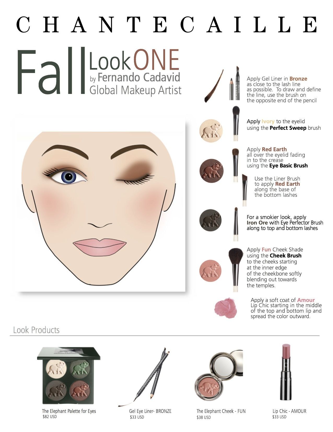 easy step by step fall look chantecaille safari palette