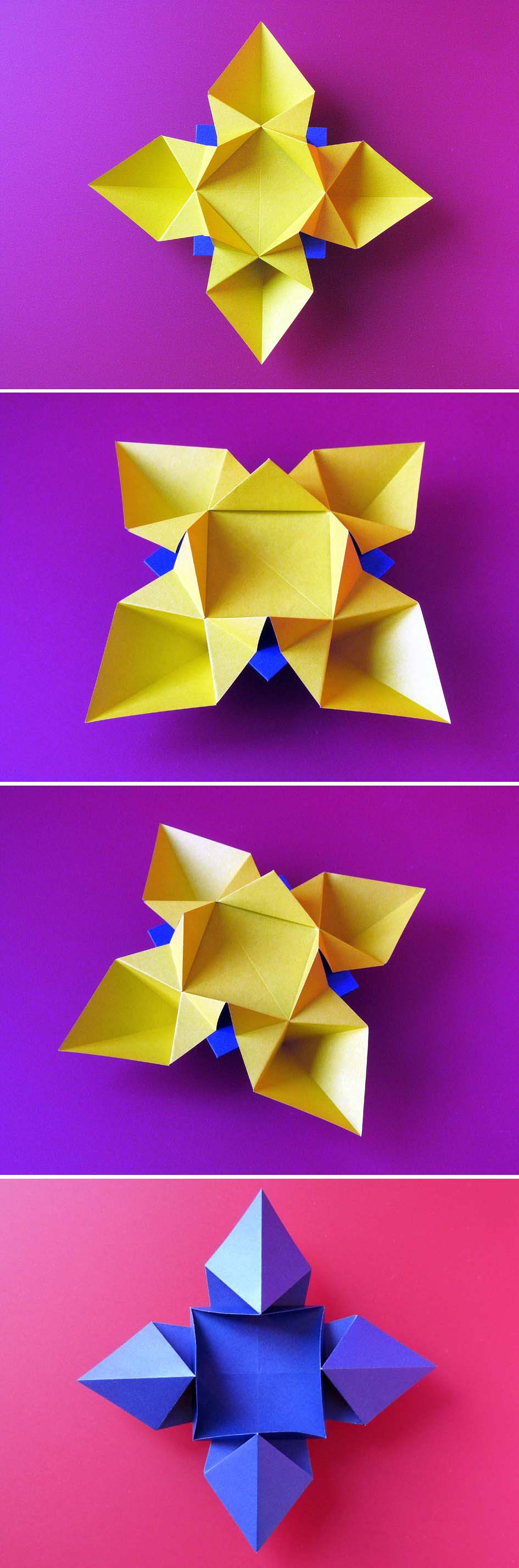 Simple Origami Link Diagrams Fiore O Stella Flower Or Star By Flowers Francesco Guarnieri To The