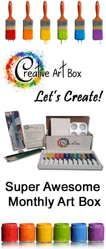Monthly Art Supplies delivered to your door. Every month is a new surprise theme and there are tutorials to give you a boost!
