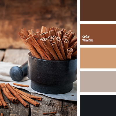 Beige Black Brown Chocolate Color Palette For Home Scheme Dark Light Monochrome Selection Of Colors