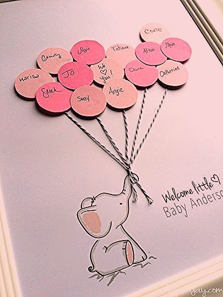 Photo of Elephant Baby Shower Guest Book Printable – Aspen Jay