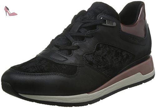 Shahira B, Sneakers Basses Femme, Noir (Black), 37 EUGeox