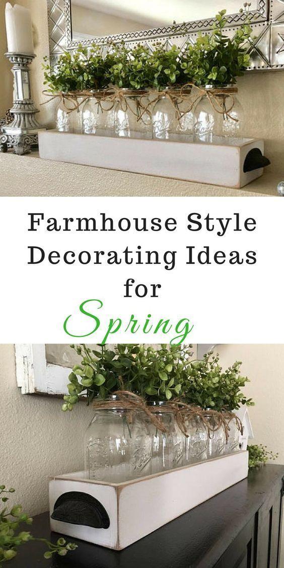 5 Quart Mason Jar Centerpiece Farmhouse Table Decor Boxwood   Etsy