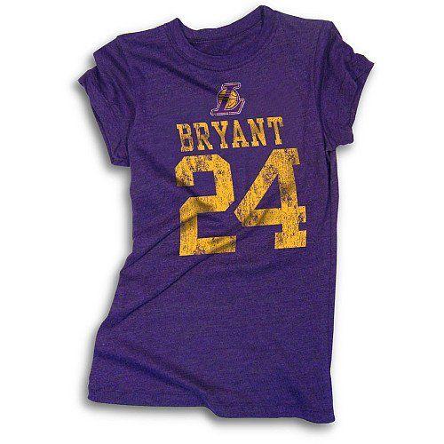 5Th & Ocean Los Angeles Lakers Kobe Bryant Womens Tri-Blend T ...