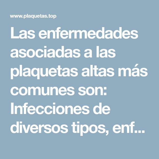 enfermedades de plaquetas altas y bajas