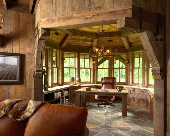 Hunting Lodge Design Pictures Remodel Decor And Ideas Rustic House Rustic Home Offices European Style Homes
