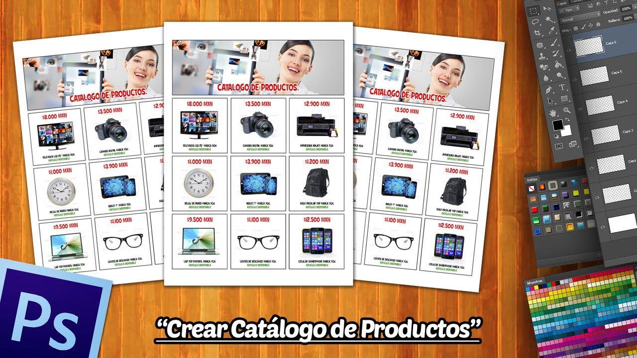 Crear Un Catalogo De Productos En Una Hoja En Photoshop Photoshop Disenos De Unas Diseno Catalogo