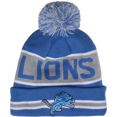 e8108294 New Era Detroit Lions The Coach Cuffed Knit Beanie with Pom - Light ...