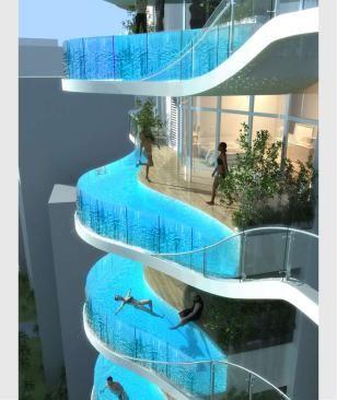 Photo of Balconi con piscina: pazzo grattacielo per Mumbai (India)