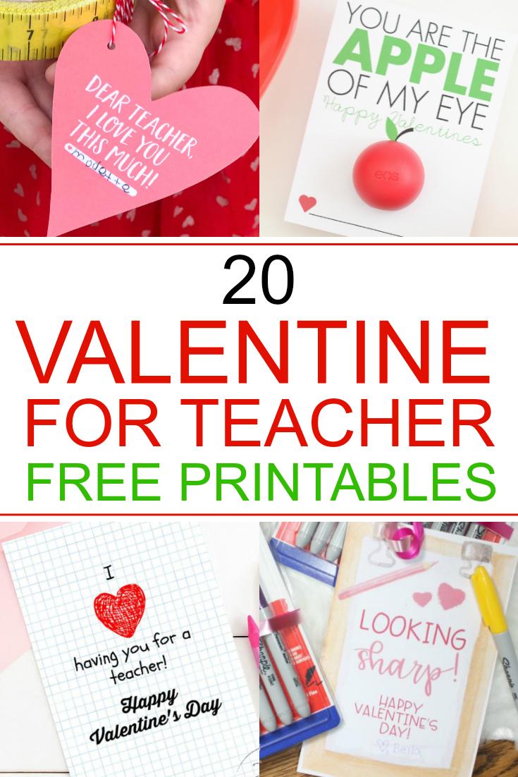free valentine teacher printables  design dazzle in 2020