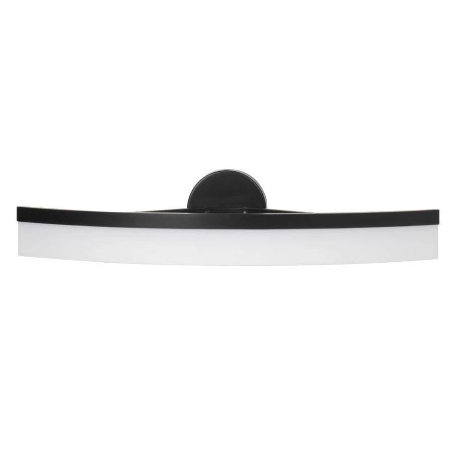 Allen Roth Lynnpark 1 Light 27 In Matte Black Led Vanity Light Bar At Lowes Com Vanity Light Bar Bar Lighting Contemporary Vanity