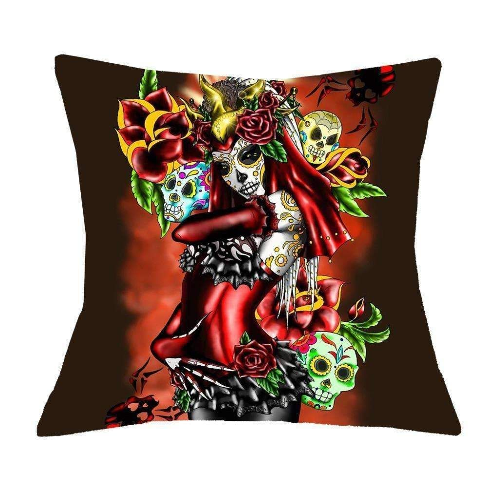 Sugar skull cushion covers set designs products pinterest