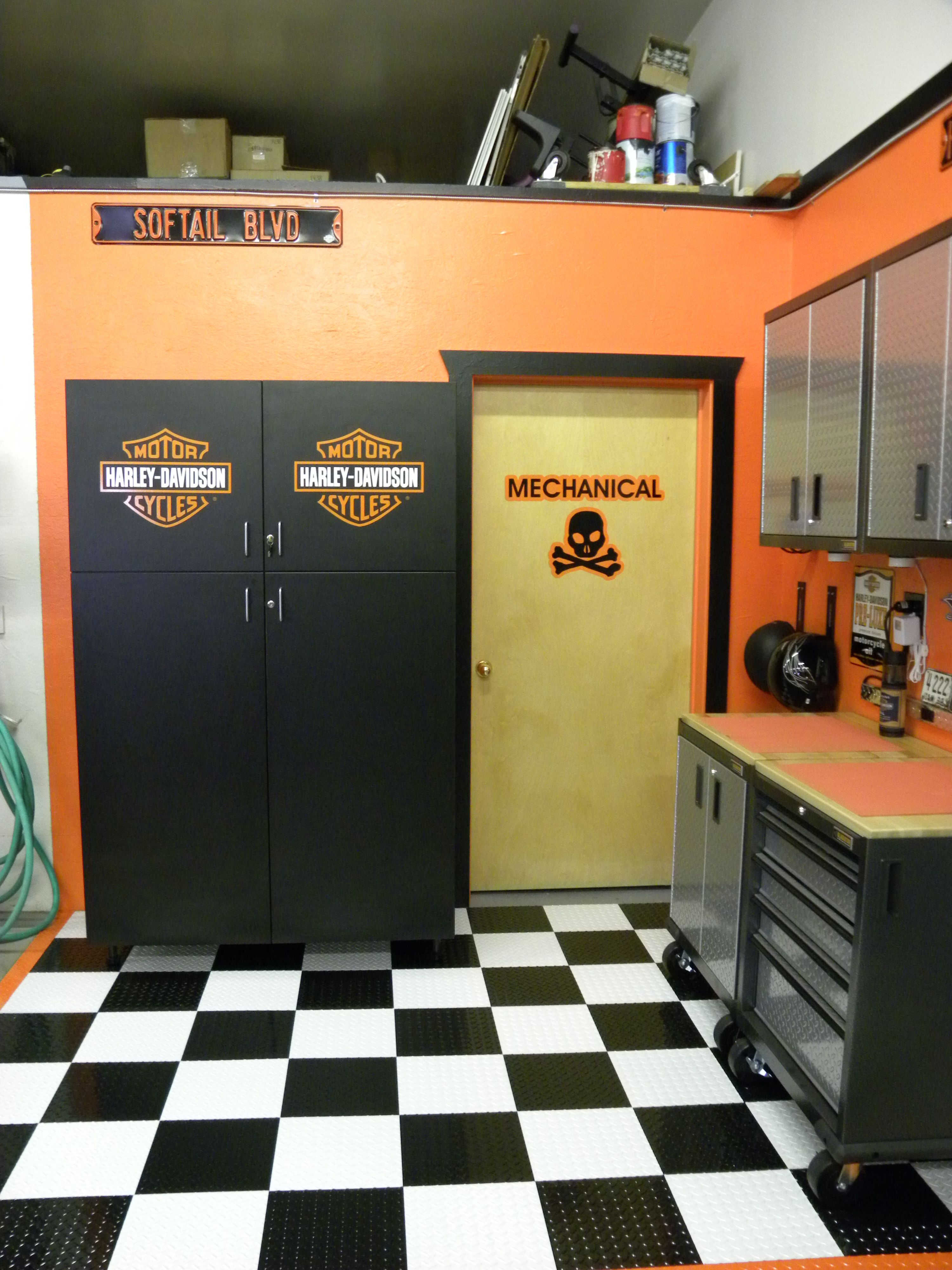 What S In Your Man Cave Garageflooring Garage Floor Tiles Garage Design Garage Floor
