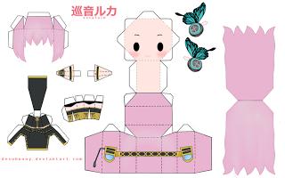 Papercraft Anime Chibi