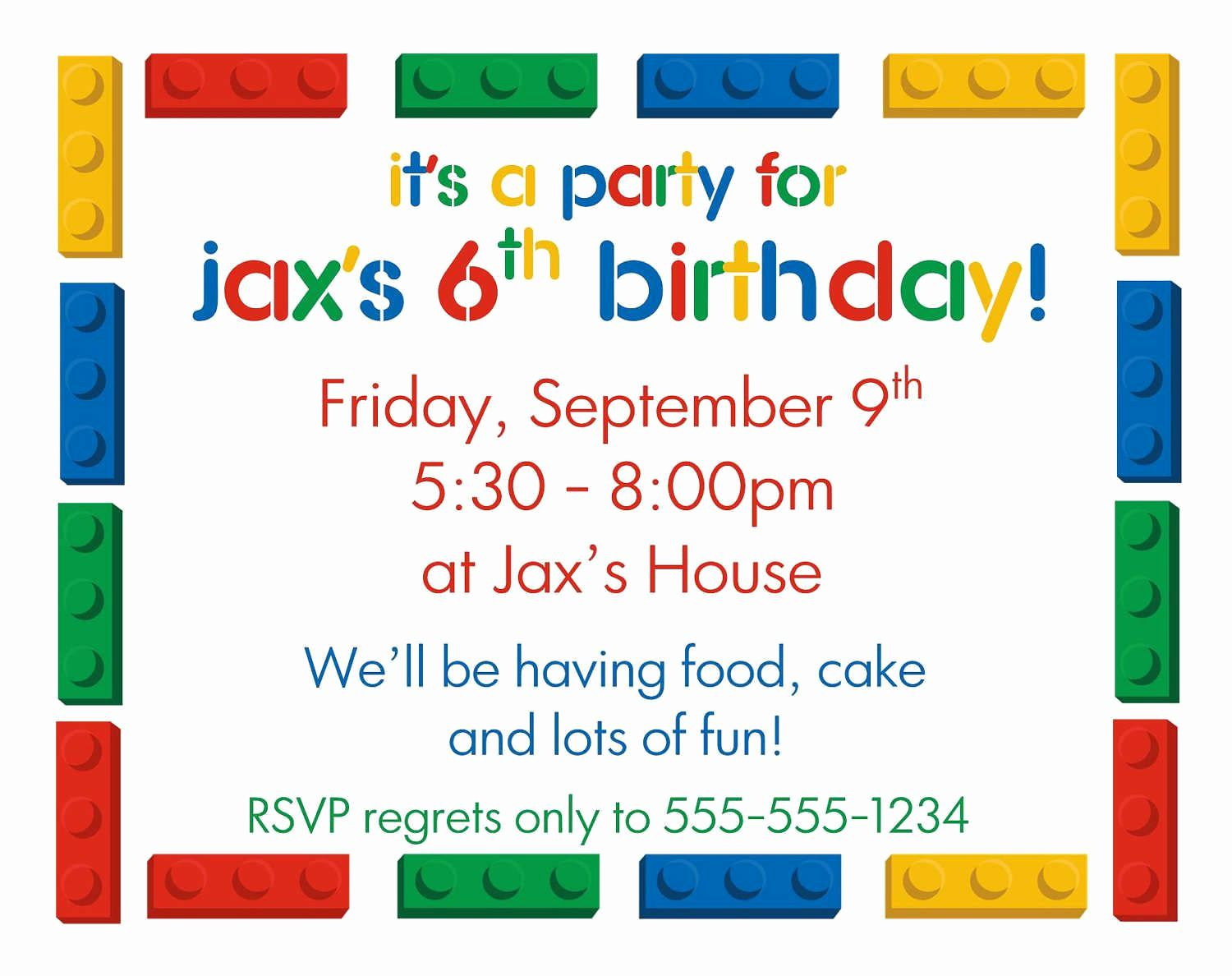 Google Docs Invitation Template Birthday party