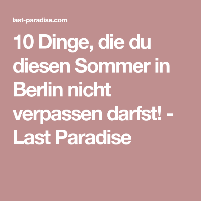 Wetter Berlin Letzte Woche